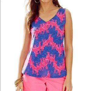 Lilly Pulitzer Neck In Neck Gigi V-Neck Tank Large